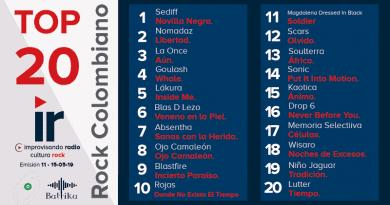 Top 20 Rock Colombiano – Emisión 11 – 2019