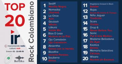 Top 20 Rock Colombiano – Emisión 12 – 2019