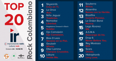 Top 20 Rock Colombiano – Emisión 24 – 2019