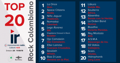 Top 20 Rock Colombiano – Emisión 28 – 2019