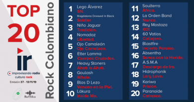 Top 20 Rock Colombiano – Emisión 37 – 2019