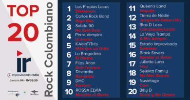 Top 20 Rock Colombiano – Emisión 3 y 4 – 2020