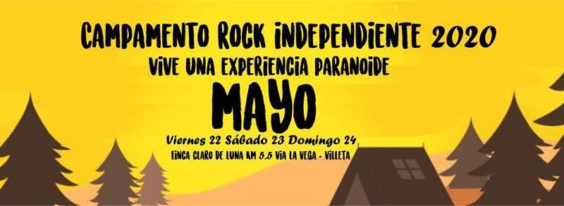 """""""Vive una experiencia Paranoide"""" CAMPAMENTO ROCK INDEPENDIENTE 2020"""