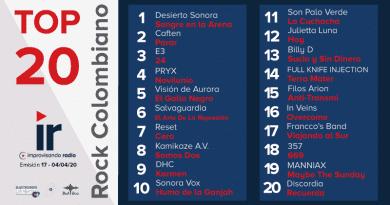Top 20 Rock Colombiano – Emisión 16 y 17 – 2020