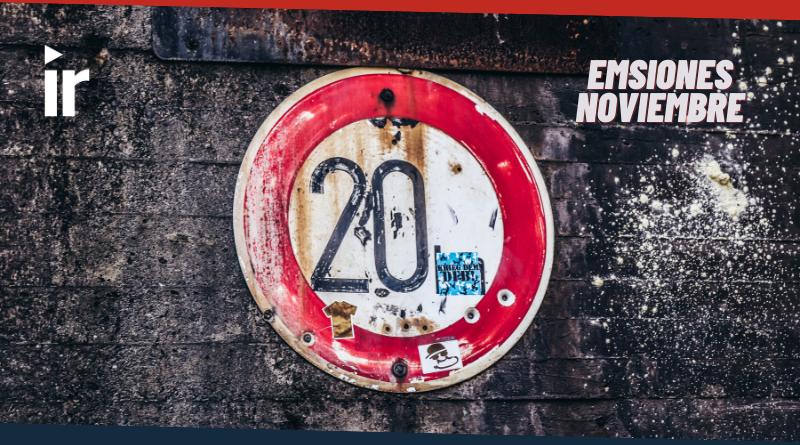 Emisiones de Noviembre en El Top 20 Rock Colombiano